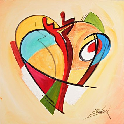 American-font-b-Hearts-b-font-III-by-Alfred-Gockel-handpainted-oil-painting-on-canvas-not