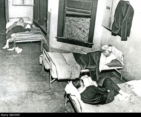 CHICAGO flophouse during the Great Depression of the 1930s