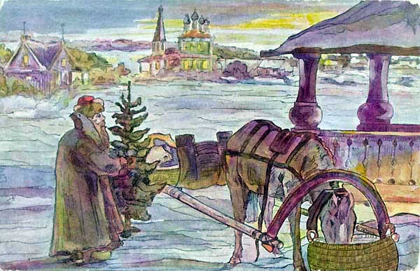 Vintage Russian winter card