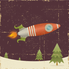 stock-illustration-10945275-vintage-christmas-rocket